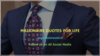 MILLIONAIRE QUOTES FOR LIFE